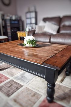 Table Basse Rustique – Un Relooking Rustic Coffee Table Makeover – Art as the Anchor - Interior Decoration Accessories coffee tables Coffee Table Design, Unique Coffee Table, Rustic Coffee Tables, Diy Coffee Table, Decorating Coffee Tables, Diy Table, Rustic Table, Country Coffee Table, Coffee Coffee