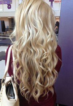 Flat Tip Platium Blonde Fusion Hair Extensions #60