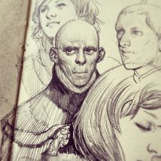 more digging #moleskine #drawing #sketching #pencil  #creepster
