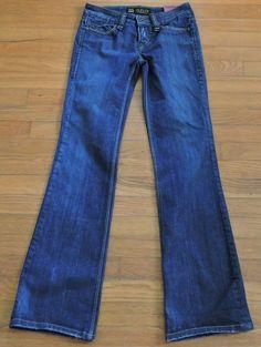 Odyn Women Button Fly Blue  Jeans Size 25 #Odyn #BootCut