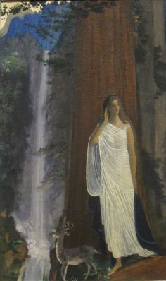 Arthur B. Davies (American 1863–1928) [Avant-garde, The Eight, Ashcan School] Silence, Waterfall and Forest. Dayton Art Institute.