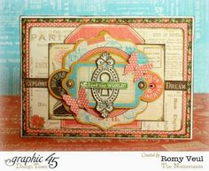 "Card made with the gorgeous ""Come Away With Me"" collection from Graphic 45 #graphic45"
