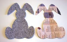 coniglio porta posate per la tavola di Pasqua