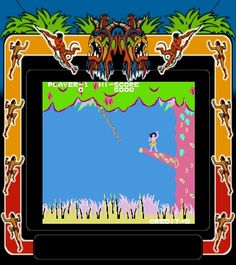 Jungle King video arcade game 80's