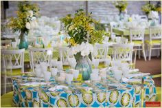 Boston Bat Mitzvah with Jodi Raphael Events  blue and lime green party