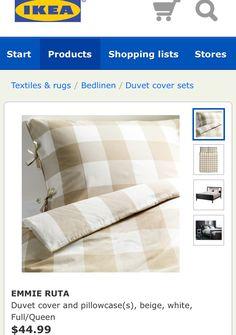 Gingham sheets at IKEA