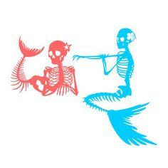 Tile Crafts, Vinyl Crafts, Vinyl Projects, Mermaid Silhouette, Silhouette Cameo, Mermaid Skeleton, Your Spirit Animal, Monogram Decal, Cricut Creations