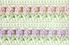 Flowers in a Row Crochet Stitch