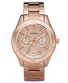 Fossil Watch, Women's Stella Rose Gold Tone ...