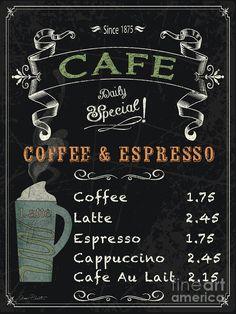 Cafe Blackboard Coffee Menu-jp3046 by Jean Plout