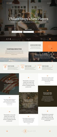 Nice masonry style web design.  Good white space with enough area to easily add type descriptions.