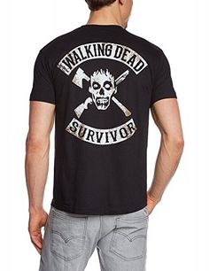 The Walking Dead Zombie Survivor - T-Shirt - print front & back Schwarz, Gr.S