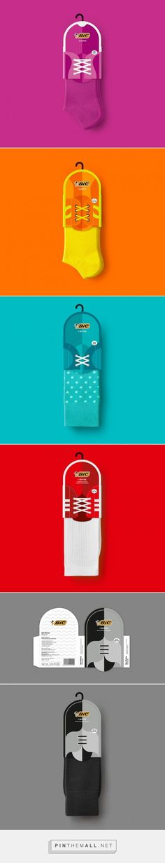 """Bic #Socks #Packaging #Design by Mousegraphics (#Greece) - <a href="""""""" rel=""""nofollow"""" target=""""_blank"""">www.packagingofth...</a>"""