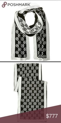 Michael Kors logo scarf Brand new tags attached  Michael Kors scarf, circle Logo theme. Great gift idea. Black and white Michael Kors Accessories Scarves & Wraps