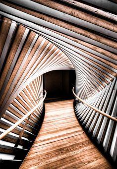 Vortex #architecture #lines #wood #perspective