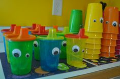 Monster Cups for the little kids