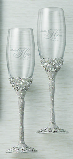 """You could #win your #wedding flutes & cake server set! 1. Follow #ThingsRemembered on Pinterest. 2. Repin your favorite set from our """"Wedding Wishes"""" board to your wedding board. 3. Repin a contest information pin. Rules in the board description! Contest ends 2-28-15!"""