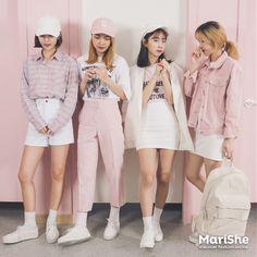 outfits for groups Korean Street Fashion, Korea Fashion, Kpop Fashion, Cute Fashion, Asian Fashion, Girl Fashion, Fashion Looks, Fashion Outfits, Womens Fashion