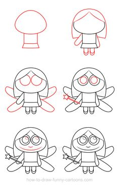 Magic and fantasy are part of this tutorial on how to draw a fairy made from a cute design!