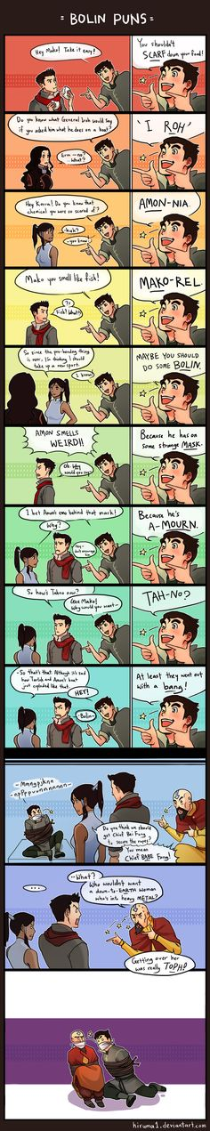 Legend of Korra - Bolin puns :D  Omg I LOVE this!