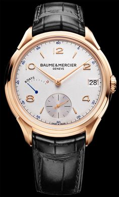 Baume & Mercier – Clifton 8-Day Power Reserve. A watch symbol to celebrate Baume & Mercier's 185 years of expertise.