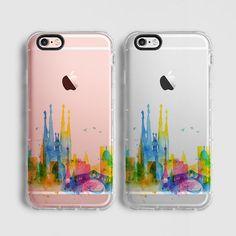 Barcelona Skyline iPhone 7 Plus caso, caso iPhone 7, iPhone 6s caso, caso iPhone 6s, iPhone SE caso, claro caso, colorido C119