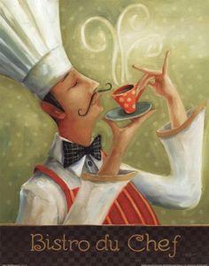 Cafe Moustache I Fine-Art Print by Lisa Audit at UrbanLoftArt.com