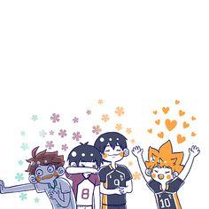 Haikyuu Kageyama, Hinata Shouyou, Haikyuu Funny, Haikyuu Fanart, Anime Chibi, Manga Anime, Anime Art, Volleyball Anime, Haikyuu Wallpaper