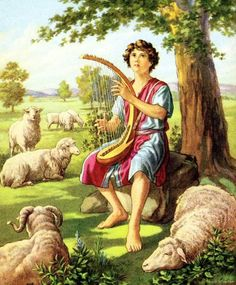 Images of Bible stories - Google Search - must be David as a young shepherd boy!