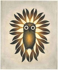 """""""I love this artist's work and also I love owls RT 'Young Owl' by Inuit artist Kenojuak Ashevak Inuit Kunst, Arte Inuit, Inuit Art, Illustrations, Art And Illustration, Native Art, Native American Art, Owl Art, Bird Art"""