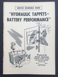 1953 Chrysler Illustrated Service Reference Book Vol 6 No 4 Hydraulic Tappets