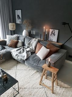 Home interior Design Videos Bedroom - Rustic Home interior Farmhouse Dining Rooms - - - Home interior Design Cozy Exposed Brick - Victorian Home interior Dark Living Rooms, Paint Colors For Living Room, My Living Room, Living Room Decor, Bedroom Decor, Cosy Living Room Warm, Bedroom Rustic, Salons Cosy, Inspire Me Home Decor