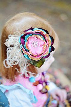 Vintage headband / flower clip M2M Matilda Jane by MaCherieKids
