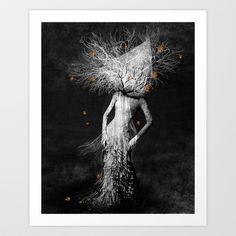 Dark portrait in autumn Art Print Promoters - $19.95