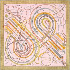 Carré-sjaal van 100% zijden twill, met de hand omzoomd (90 x 90 cm)