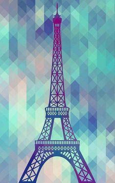 'Eiffel Tower Paris' Poster by MartaOlgaKlara - Wallpaper Paris Wallpaper, Cool Wallpaper, Wallpaper Backgrounds, Iphone Wallpaper, Beautiful Paris, Paris Love, Pink Paris, Huawei Wallpapers, Paris Poster
