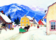 EuroGraphics Village Laurentides by Clarence Gagnon 1000-Piece Puzzle. This beautiful winter scene provides a fun way to celebrate the holidays! Canadian artist Clarence Gagnon shows a traditional Canadian Christmas in this beautiful painting.