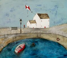 'Just in time for the last post'  by Louise O'Hara of DrawntoStitch