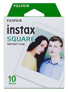 Fujifilm Instax Square film for photo cameras and Instax Share printer. - Includes 10 photos for Instax camera. - Film size: x x mm) - Instax film ensures sharp, clear reproduction, vivid color and natural skin tones. - ISO 800 _______ Check out these Fuji Instax Mini, Fujifilm Instax Mini, Camcorder, Basic Film, Instax Share, Smartphone Printer, Instax Film, Instant Film Camera, Film Review