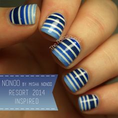 The Nailasaurus: Nonoo Resort 2014 Inspired Nail Art