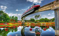Epcot gardens & Monorail