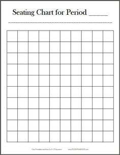 free printable 10x10 vertical classroom seating chart template