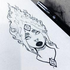 Flame Princess illustration by Monicauniverse https://instagram.com/p/5uIu03INCr/ #AdventureTime