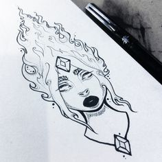 Flame Princess illustration by Monicauniverse https://instagram.com/p/5uIu03INCr/ #AdventureTime