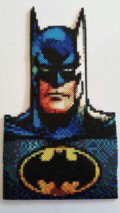 Batman made out of Perler beads
