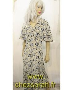 Robe 1930 en crêpe de soie imprimé