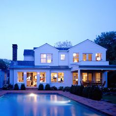 Contemporary Exterior White House Exterior With Black Windows Design, Pictures, Remodel, Decor and Ideas - page 26