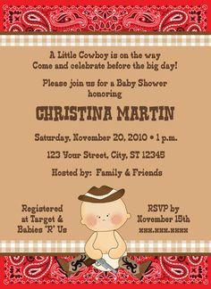Cowboy Themed Baby Shower Invitations | best stuff