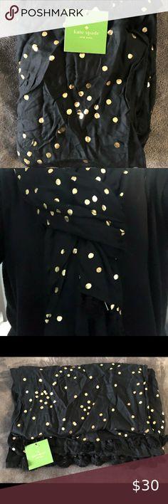 Black+White Checker and Dot Reversible Elastic Fashion Ruffle Scarf W// Tassel