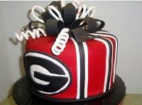 Georgia Bulldog cake... perfect for the first game of the season! :)